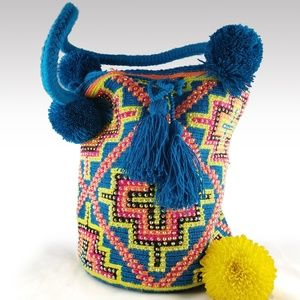 Wayuu Authentic Mochila Bag with Crystals